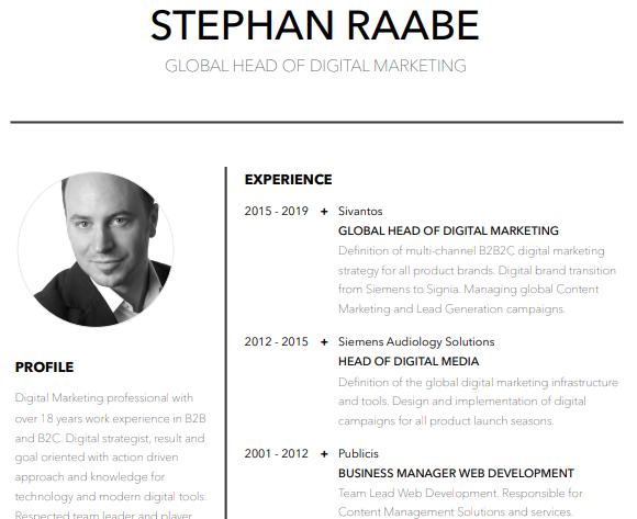 Download My Resume Stephan Raabe Digital Marketing Specialist